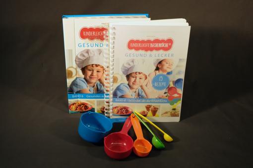 Kinderleichte Becherküche -  gesund und lecker (Kochbuch mit Begleitheft in Kurzschrift)