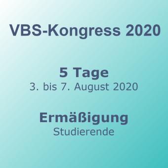 VBS-Kongress 5-Tage Studierende – Frühbucher