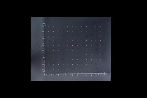 Erster Quadrant (positive x- und y-Achse) 27 x 34 cm mit 2,0 cm Rastereinteilung