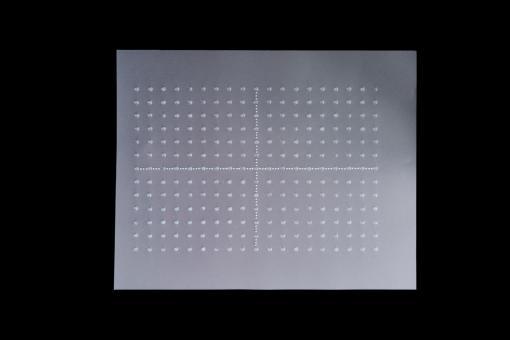 Punktgitternetz 27 x 34 cm (dicke Punkte, x- und y-Achse) mit 1,5 cm Rastereinteilung