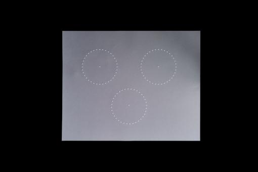 Zeichenfolie mit 3 taktilen Kreisen