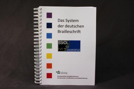 """Schwarzschriftprintausgabe """"Das System der deutschen Blindenschrift"""""""