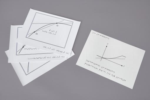 """Punktschriftabbildungen """"Die Steigung einer Kurve – Einführung in den Ableitungsbegriff"""""""
