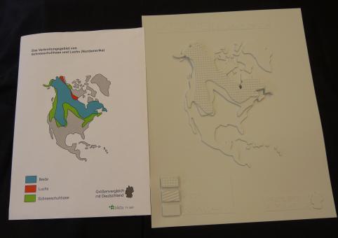 Verbreitungsgebiet Schneeschuhhase und Luchs (Nordamerika)